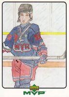 1999-00 Upper Deck MVP Draw Your Own Card #W29 Wayne Gretzky New York Rangers