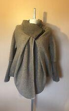 PLUS SIZE Italian Lagenlook Quirky 80% WOOL Cocoon COATIGAN Jacket Coat 16-22