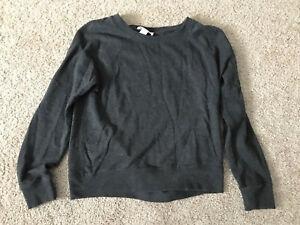Women's Juniors FOREVER 21 Solid Gray Cotton Casual PullOver SweatShirt Medium