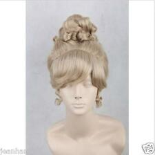 New Style Princess Cinderella Fashion Short Golden Lacey Poppyhead Cosplay Wig