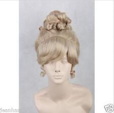 New Style Princess Cinderella Fashion Short Golden Lacey Poppyhead Cosplay Wig