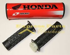 7/8'' Handlebar Grips And Honda Cross Bar Pad Motocross Dirt Bike. USA!!