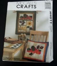 McCalls M4611 Harvest Wall Quilt And Pillow Table Runner Sewing Pattern  Uncut