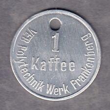 Frankenberg -VEB Polytechnik Werk-  Kaffemarke Alu (Menzel 36136.1)