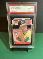 1987 Donruss Mark McGwire #46 Rated Rookie Card PSA 9 MINT Oakland Athletics ⚾️