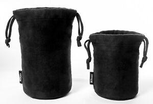 Genuine NIKON Lens Pouches. Two Cases: CL-0913 & CL-1018 Soft cases w/drawstring
