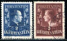 LIECHTENSTEIN 1951 304A,305B gestempelt 350€(A9269