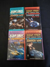 Lot of 4 Star Trek Books, Dominion War Books 1-4