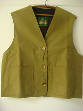 Vintage English Womens Original Grenfell Cotton And Wool Waistcoat