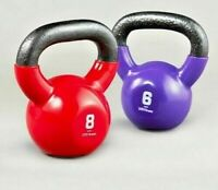 SPORTS CAST IRON KETTLEBELLS WITH RUBBER SLEEVE HOME GYM FITNESS KETTLEBELL 8kg
