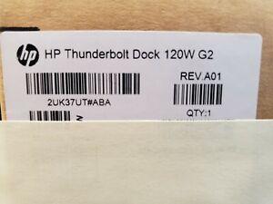 HP 2UK37UT#ABA Thunderbolt Dock G2 120W Docking Station - Brand New - Unopened