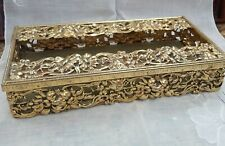 Vintage Ornate Metal Tissue Box Holder cover