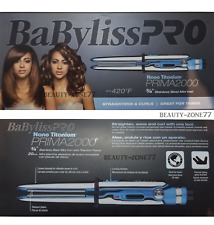 BaByliss Pro Nano Titanium PRIMA 2000 Flat & curling Iron 3/4 inch BABSS2000 NIB