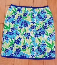 Roxy QUIKSILVER Junior Sz 5 knee length skirt Blue/Green Floral Cotton