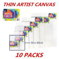 10 x Artist Canvas 30x30cm Blank White For oil/acrylic painting/Paint Wholesale