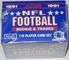 1991 Score NFL Football Rookie & Traded 110-Card Boxed Set - Brand New & Sealed