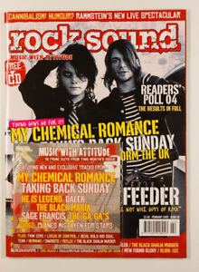 MY CHEMICAL ROMANCE THE USED RAMMSTEIN FEEDER BLINK 182 Rock Sound magazine + CD
