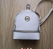 Women's White Backpack Bag