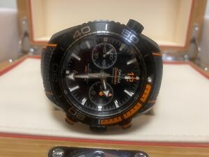 Omega Seamaster Planet Ocean 600 Chronograph 45.5mm Deep Black Ceramic Orange