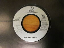 """STING RARE 7"""" WHEN WE DANCE IF I EVER LOSE MY FAITH IN YOU JUKEBOX THE POLICE"""