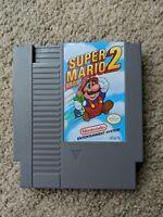 Super Mario Bros. 2 (Nintendo NES, 1988) Authentic cart Tested Clean!