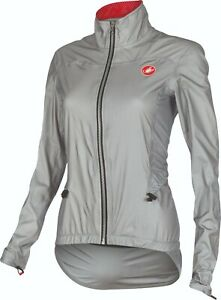 Castelli Women's Donnina eVent Cycling Rain Jacket : Size Small : Grey