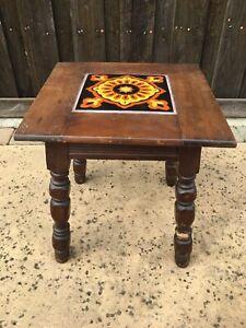 Vintage Antique Spanish Mission TILE TOP Side End TABLE CATALINA. **leg Damage**