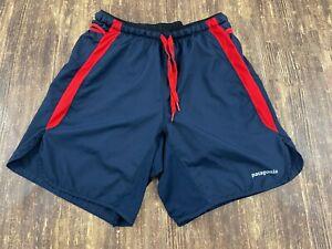 Patagonia Men's Blue/Red Athletic Shorts - Extra Small - XS