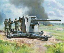 ZVEZDA 1/72nd Scale WWII German Flak 36/37AA Gun 88mm Snap Kit 6158 NEW In BOX