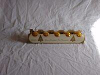 "Gold Shiny Brite Glass Ball Ornaments Box of 5 Max Eckardt 2"" Vintage"
