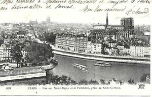 CPA PARIS - VUE SUR NOTRE-DAME ET LE PANTHEON 1910