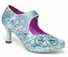 f96db9c493 Joe Browns Charlotte Mary Janes Women's Blue Embroidered Floral High HEELS  ...