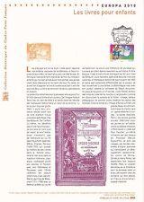 Document Philatélique 1er Jour : 09/05/ 2010 - Europa Les Livres pour Enfants