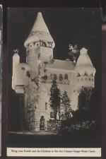 REAL PHOTO Postcard HAMBURG NJ Uneeda Bakers Ginger Bread Castle Promo Ad 1930's