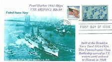 USS ARIZONA BB-39 Battleship Pearl Harbor 1941, NYC Photo First Day of Issue