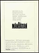 MANHATTAN Movie POSTER 27x40 B Woody Allen Diane Keaton Meryl Streep Mariel