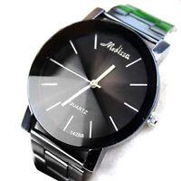 Fashion New  woman man Unisex silver Steel Metal Strap quartz brand watch #MS