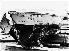 Photo Lifeboat Of Edmund Fitzgerald On Rescue Freighter, Lake Superior, 1975