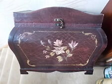 GENUINE LOFT CLEAROUT LARGE ANTIQUE STYLE SHABBY CHIC STORAGE CHEST - FLORAL