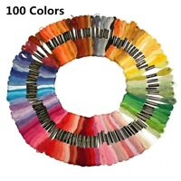 50/100/150 Colors Embroidery Thread Hand Cross Stitch Floss Sewing Skeins Craft