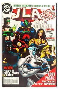 JLA: Secret Files #1 Mini (1997 DC) Deluxe Edition, Origins! Gatefold Cover! VF+