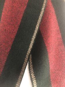 Gucci Scarf SU Navas Red/Navy Lana Wool Fringe Scarf 20x180 cm, Italy