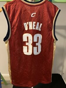 Shaquille O'Neal Autographed Cleveland Cavaliers Vintage NBA Jersey Youth NO COA