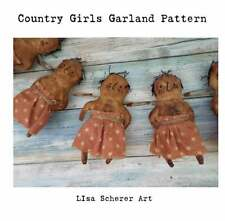 Primitive Grunge Folk Art Doll Craft Girl Grunge Country Pattern