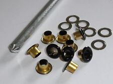 50 Stück Ösen Öse 5/10 schwarz mit Gegenscheiben und Werkzeug NEUWARE rostfrei