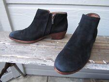 Sam Edelman PETTY Bootie Black Suede Ankle Boot US 6.5 M EU 36.5 Side Zip