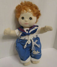 My Child Doll Mattel Vtg 1985 Red Hair Brown Eyes Plush Blue Sailor Outfit 14 in