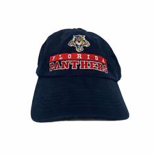 Vintage Florida Panthers Hat Blue Adjustable CCM Hockey NHL Baseball Cap Dad Hat