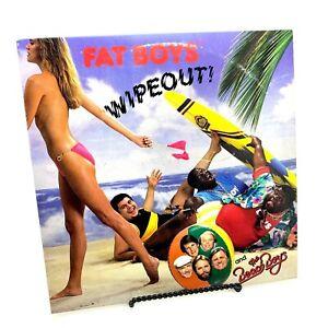 "Fat Boys with the Beach Boys ""Wipeout - Crushin"" 45 rpm Vinyl Record Rock Rap"