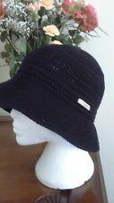 Black Crochet Trilby/Sun Hat by Kangol - Size Large - BNWT